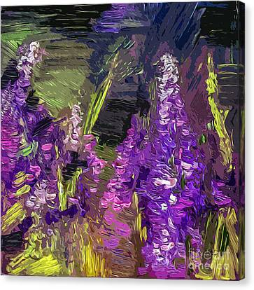 Abstract Lupines Decorative Art By Ginette Canvas Print by Ginette Callaway