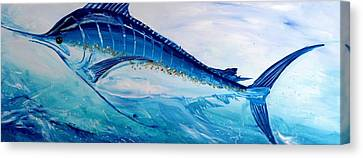 Abstract Marlin Canvas Print by J Vincent Scarpace