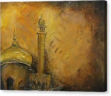 Abstract Mosque Canvas Print by Salwa  Najm