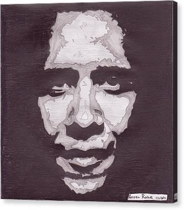 Abstract Obama Canvas Print by Angel Roque