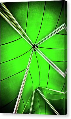 Abstract Of Green Canvas Print by Meirion Matthias