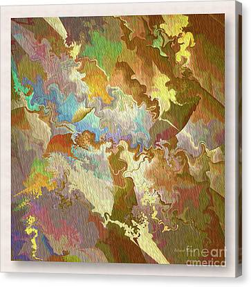 Abstract Puzzle Canvas Print by Deborah Benoit