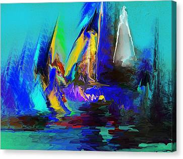 Abstract Regatta Canvas Print by David Lane
