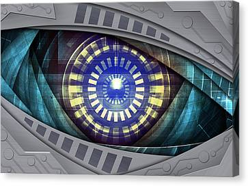 Technical Canvas Print - Abstract Robot Eye by Nattapon Wongwean
