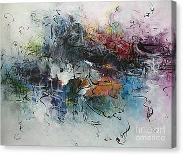 Abstract Seascape00117 Canvas Print by Seon-Jeong Kim