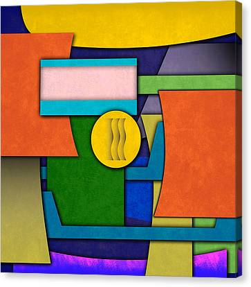 Vector Canvas Print - Abstract Shapes Color One by Gary Grayson