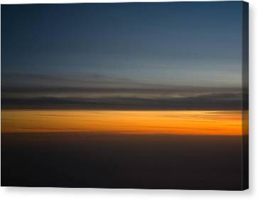 Airoplane Canvas Print - Abstract Sky Through A Plane Window by Pixie Copley