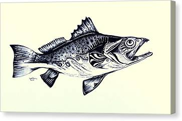 Speckled Trout Canvas Print - Abstract Speckled Trout by J Vincent Scarpace