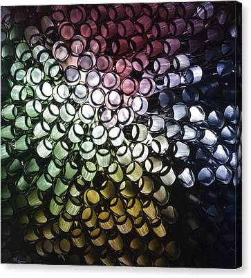 Canvas Print featuring the photograph Abstract Straws by Steve Purnell