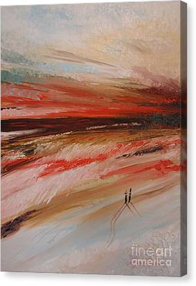 Abstract Sunset II Canvas Print by Tatjana Popovska