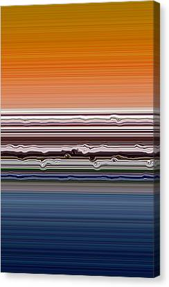 Abstract Sunset Canvas Print by Michelle Calkins