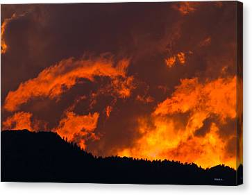 Abstract Sunset Canvas Print by Mitch Shindelbower