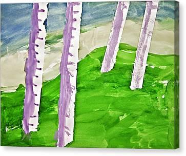 Abstract Trees Canvas Print by Susan Leggett