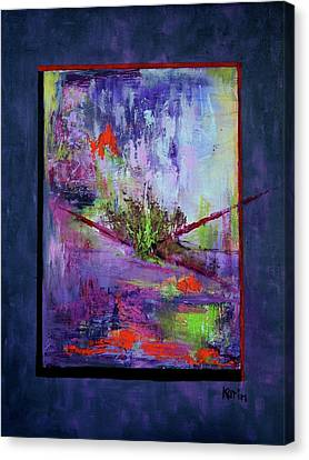 Abstract With Center Canvas Print by Karin Eisermann