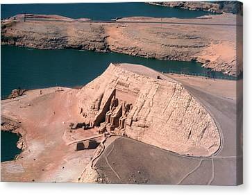 Abu Simbel From The Air Canvas Print by Joe & Clair Carnegie / Libyan Soup