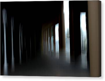Canvas Print featuring the mixed media Abyss by Terence Morrissey
