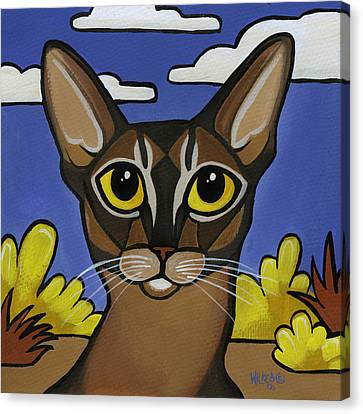 Abyssinian  Canvas Print by Leanne Wilkes