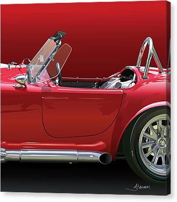 Ac Cobra Detail Canvas Print by Alain Jamar