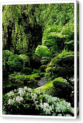 Accentuating The Green Canvas Print