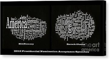Barack Obama Canvas Print - Acceptance Speeches by David Bearden