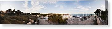 Access To The Beach Of Es Trenc Canvas Print