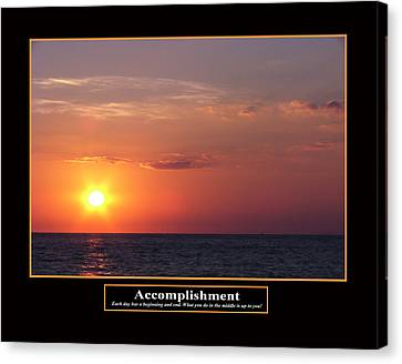 Accomplishment Canvas Print by Kevin Brant