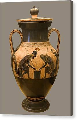 Achilles And Ajax Canvas Print by Sheila Terry