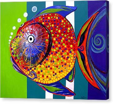 Acidfish 60 Canvas Print by J Vincent Scarpace
