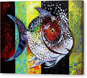 Acidfish 70 Canvas Print by J Vincent Scarpace