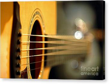 Acoustic Guitar Canvas Print by Gib Martinez