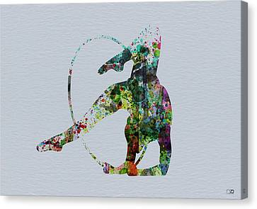 Acrobatic Dancer Canvas Print by Naxart Studio