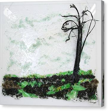 Across The Field Canvas Print by Mariann Taubensee