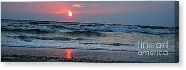 Canvas Print featuring the photograph Across The Sea by Linda Mesibov