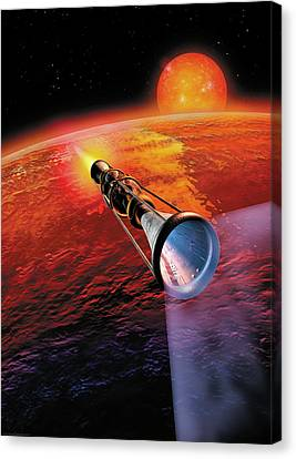 Across The Sea Of Suns Canvas Print by Don Dixon