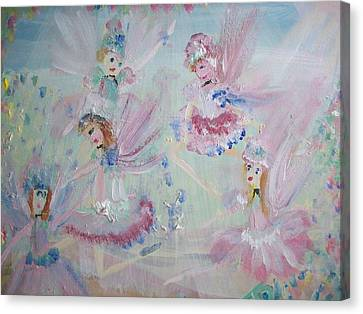 Act  Two Fairies Canvas Print by Judith Desrosiers