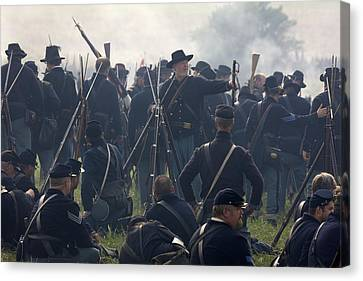 Actors Dressed As Union Soldiers Canvas Print