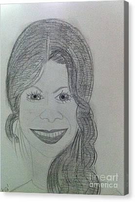 Actress Zoe S. Canvas Print by Charita Padilla