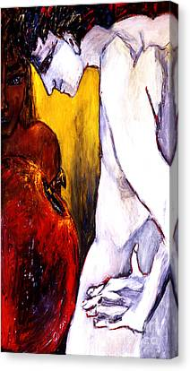 Adam And Eve Canvas Print by Eszter Gyory