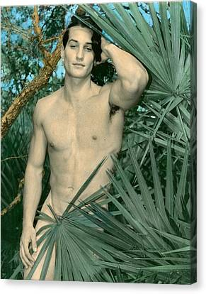Adam In Paradise 2 Canvas Print by Jean-claude Poulin