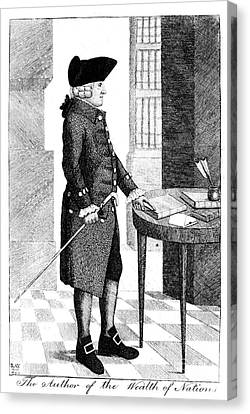 Adam Smith, Scottish Philosopher & Canvas Print by Photo Researchers