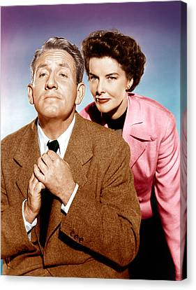 Adams Rib, From Left Spencer Tracy Canvas Print