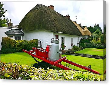 Canvas Print featuring the photograph Adare Cottage by Charlie and Norma Brock