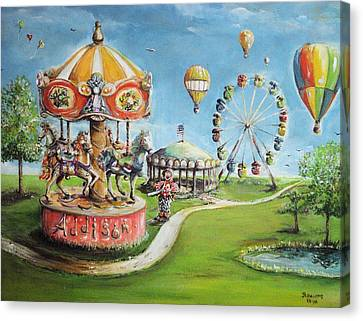Canvas Print featuring the painting Carnival by Bernadette Krupa