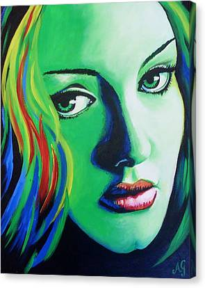 Adele - Rumour Canvas Print by Anne Gardner