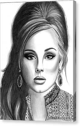Adele Canvas Print by Crystal Rosene