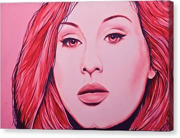 Adele Canvas Print by Derek Donnelly