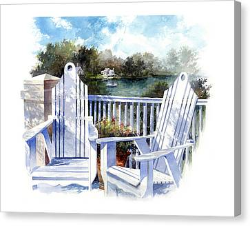 Adirondack Chairs Too Canvas Print by Andrew King