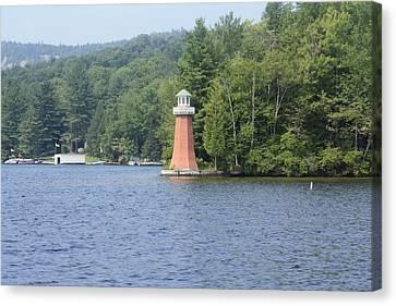 Adirondack Lighthouse Canvas Print by Ann Murphy