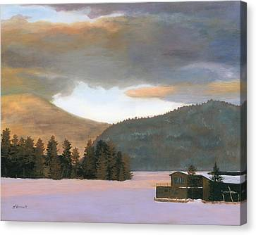 Adirondack Morning Canvas Print by Lynne Reichhart