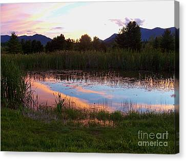 Adirondack Reflection 1 Canvas Print by Peggy Miller